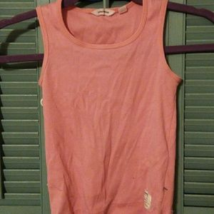 Tops - Country road salmon tank top